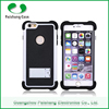 Durable Phone case Silicon TPU+PC 3 in 1 dual layer case with kickstand stand function for iphone 5/ 6