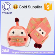 Hot Selling Products One Piece Wholesale Women's Knit Hat and Scarf Sets