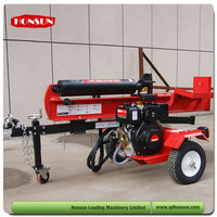 Hot selling 100L 3 position with auto-return control valve super garden tool 50T diesel power wood splitter