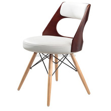 solid Wooden stacking Chair Designs with Cushion barstools chair