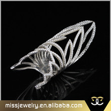 Fashion Costume Jewellery White Gold Plated Long Finger Ring, Gold Rings Design For Women
