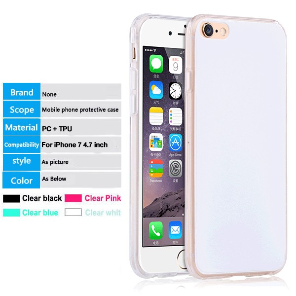 2 in 1 PC TPU combo back case cover for iphone 7