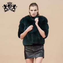 popular style the entire leather fox fur new design coat for korean ladies
