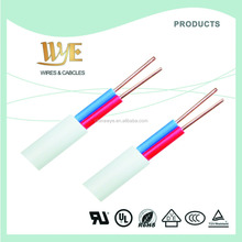 Flat type 2 core 3 core multicore silicone shielded wire cables for plugs