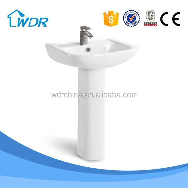 Latrine washing pedestal porcelain sinks