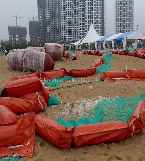 Wholesale oil fencing for seaweed sealing boom factory inflating rubber oil spill boom