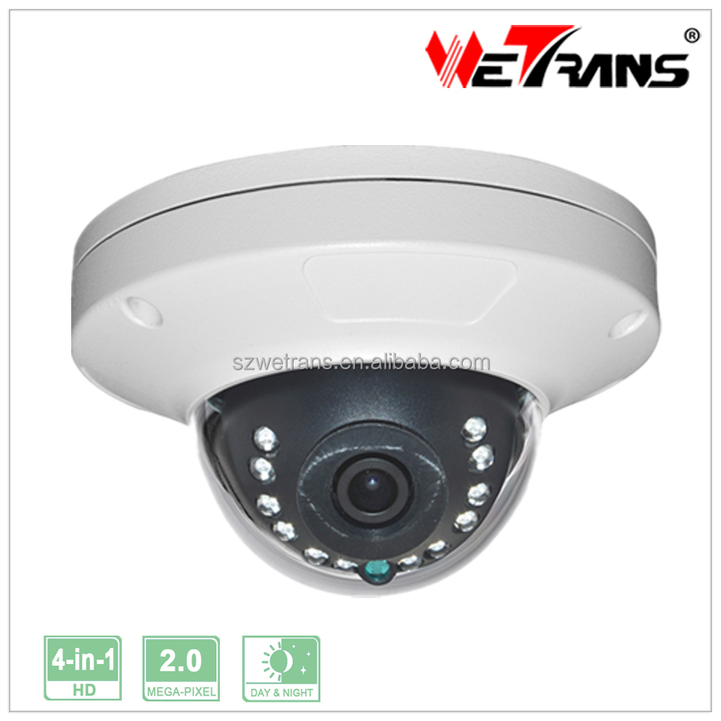 WETRANS TR-X20BD116 High Speed Small Metal Vandalproof Housing AHD Mobile Dome Camera 4 in 1 HD Camera Support AHD/CVI/TVI/CVBS