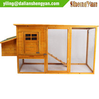 Large Wooden Hen House/Chicken Coop With Outdoor Run