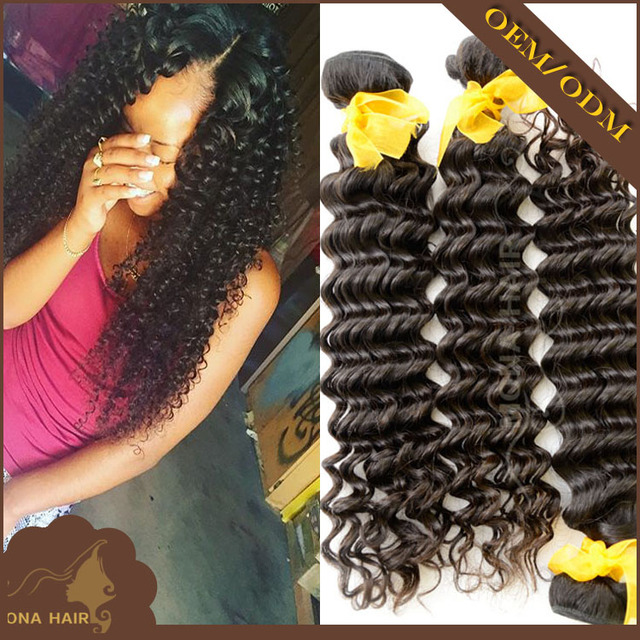 Easy dye 7A grade deep curly style European natural color soft and smooth virgin hair bundles