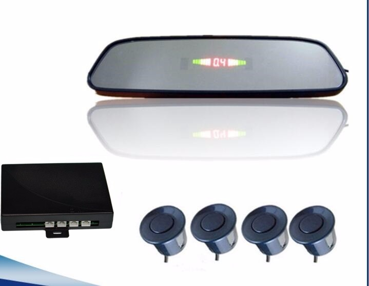 Rearview mirror type car reverse backup radar system with 4 sensor