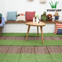 VIVATURF factory whosale indoor outdoor interlock artificial grass mat turf tile