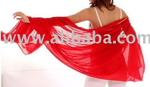 Stunning Handmade Chiffon Belly Dance Veil, belly dance costumes wholesale