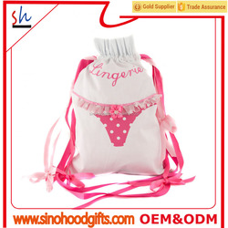 Whole Sale natural cotton bag drawstring underware bag packaging bag