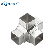 90 Degree Stainless Steel Pipe Elbow Bend 4 way Square Tube Connector