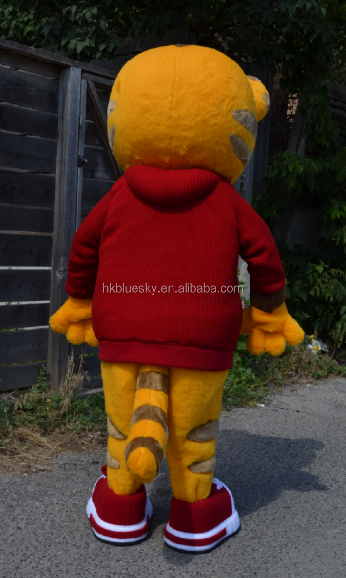 Daniel tiger mascot costume for children's party