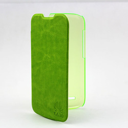 Plastic and leather cover case for huawei ascend g610