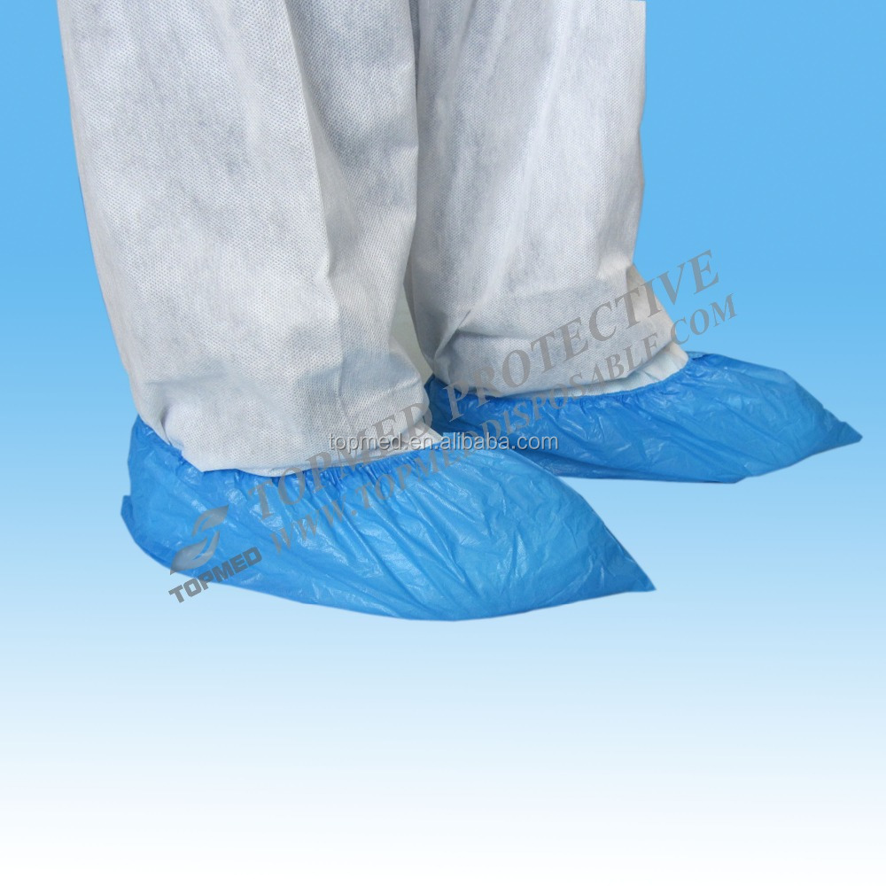 Nonwoven PE/CPE hospital shoe cover