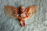 90 cm length baby dyed cheesecloth baby photo props baby clothing with headband