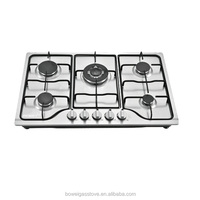 five burner stainless steel built in gas stove BW-XK502