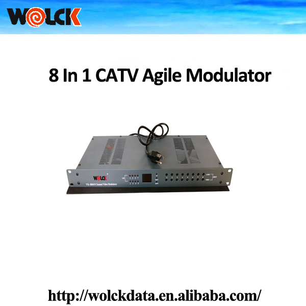 Professional China supplier CATV System 8 in 1 Segregative Channel Agile Modulator