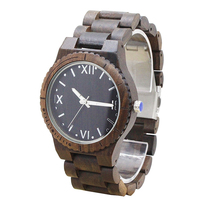 Men women luxury oem customized logo quartz wrist wood bamboo watch 2017