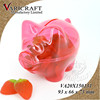 With coin slot Pink Piggy shape plastic candy packaging