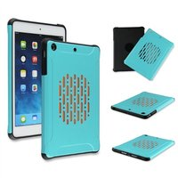 2 in 1 hybrid silicon + pc shockproof case for ipad mini case