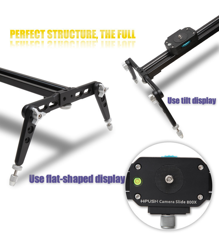 Factory supply video rail dolly stabilizer camera slider 120cm for shooting with pan head