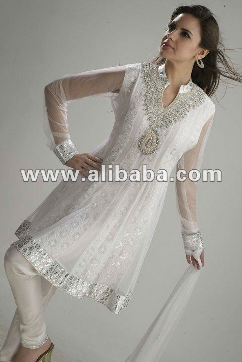 white net embroidered frock
