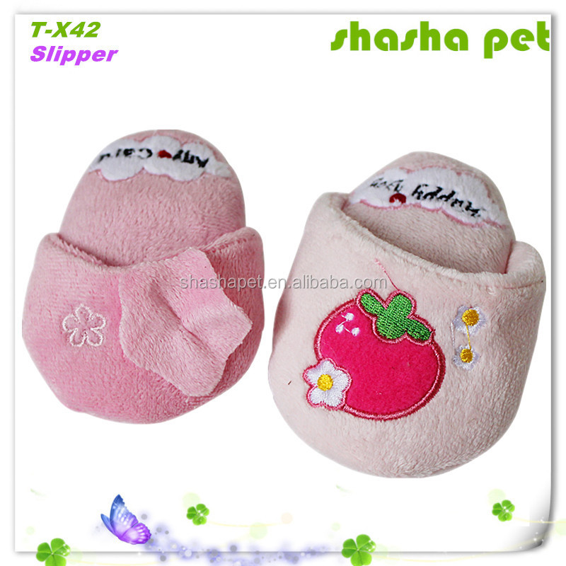 Slipper plush squeaker pet toy,pet product pet sex toys free samples