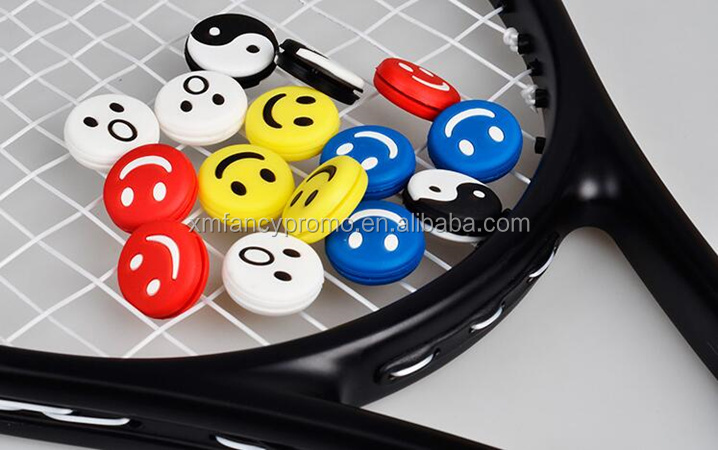 special logo customized silicone tennis racket vibrator dampener for outdoor sports