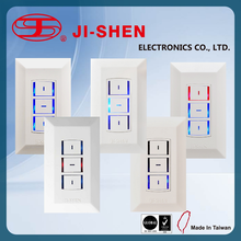 JI SHEN waterproof led push button switch