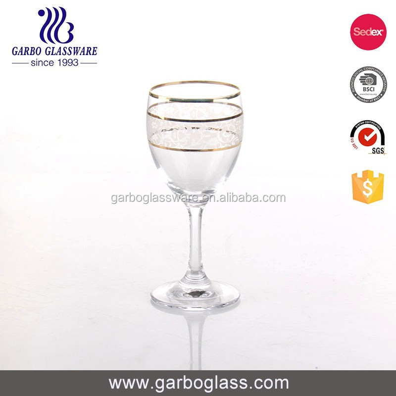 Good Qualtiy colored glass stemware champagne glass goblet