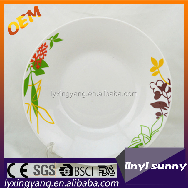 "9""porcelain dish with nice printing sell to yiwu"