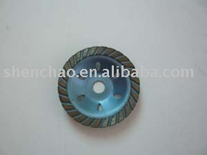 SC Dry using Diamond grinding small cup wheel 4""
