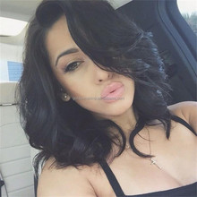 New Style Fashion Wavy U Part Wigs Brazilian Human Hair Wigs Side Bangs Bob U Part Wig For Black Women