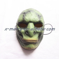X-MERRY Gray Devil Ghostly Zombie Terror Head men Wizard Face Latex Mask
