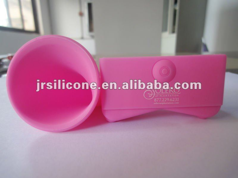 Newest silicone horn stand speaker case for promotion