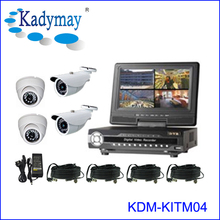 "Hot Sell !!! Economic DIY cctv 4-channel dvr kit with 7"" LCD Monitor"