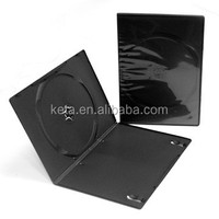 7MM Slim Single Black Plastic Long DVD Case