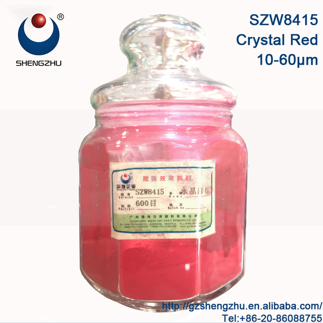 Red pearl inorganic natural mica pigment For leather