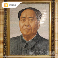 Factory Price Chairman Mao Marble Paiting Wall Art Decor