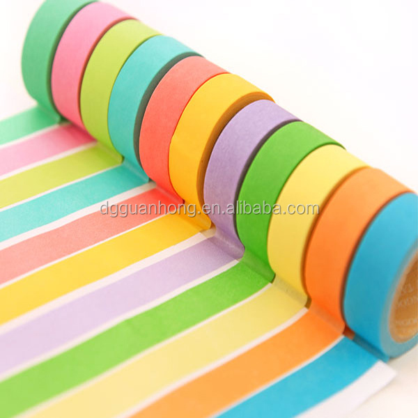 colorful waterproof sellotape self adhesive tapes or auto painting crepe paper masking tape