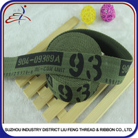 Wholesale Printed Woven Military Cotton Webbing For Belts