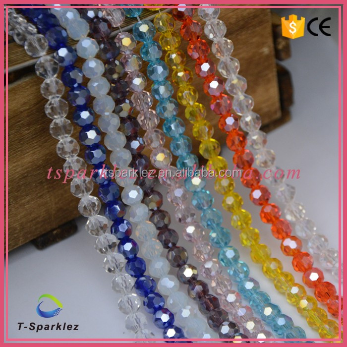 Jewelry rondelle clear crystal beads in bulk/ crystal beads wholesale for curtain