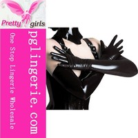 2015 Newest arm length gloves black ,adult sexy latex gloves,china latex gloves