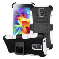 For Samsung Galaxy S5 Mini Dual Layer Armor Kickstand Cell Phone Case