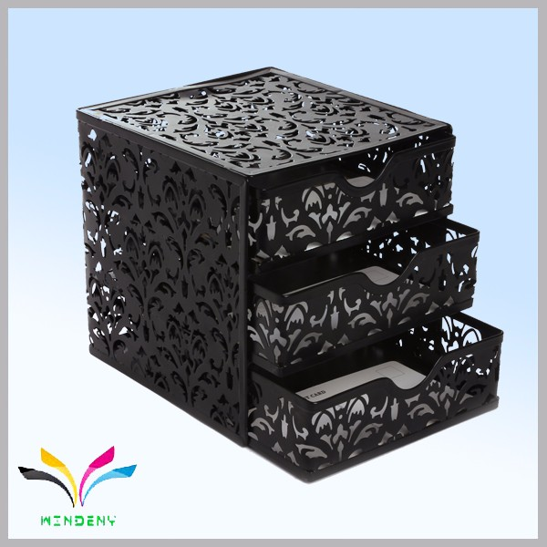 Factory Directly Sale Counter 3 Tiers Alibaba Express Make Up Case Stand for Organizer