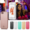 New led case for iPhone 6 6s 6P Phone Case light Up Selfie Cover With LED Flash + Power bank