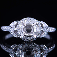 Prong Set 5mm Round Cut Engagement Wedding Semi Mount Ring(PES6-1980)